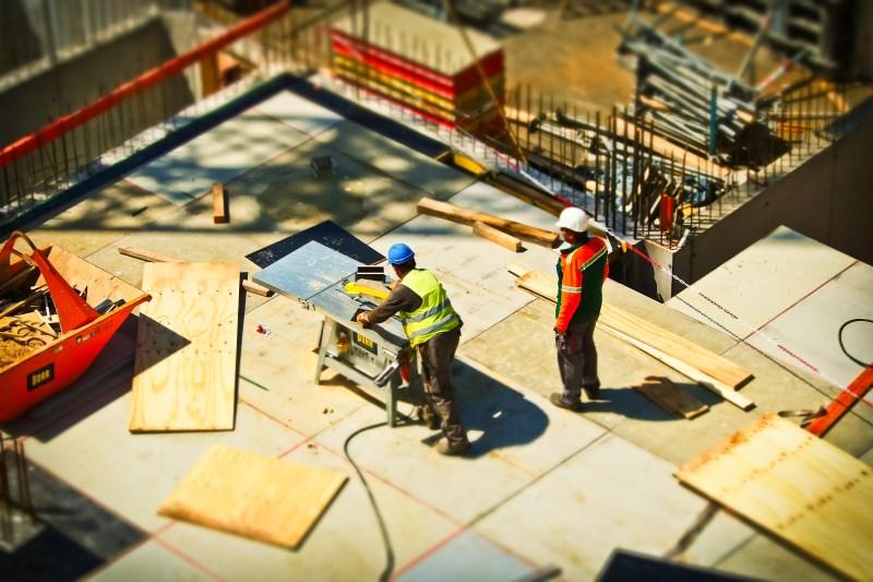 Pilares circulares en la construcción